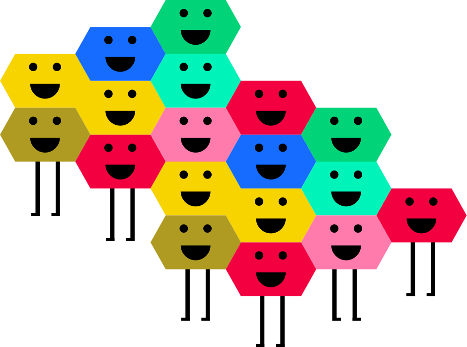 Gentils hexagones